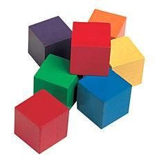 1인치 쌓기나무 One-Inch Wooden Color Cubes