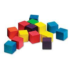 2cm 쌓기나무 (6 Color, 100개) 2cm Wooden Color Cubes, Set of 100