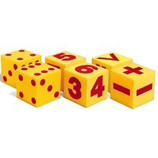자이언트 스폰지 주사위 세트 Giant Soft Cubes: Dot, Numeral and Operations Sets