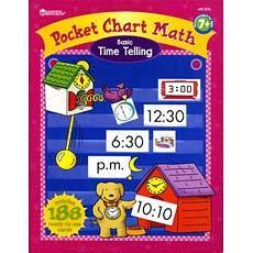 수학 포켓차트 북 - 시간 말하기 Poket Chart Math Book - Basic Time Telling