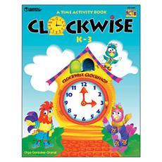 시간 학습 활동 북Clockwise Full-Color Activity Book