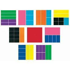 분수 학습기 - 사각 Rainbow Fraction® Deluxe Squares (1 ~ 1/12)